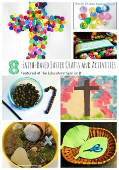 A collection of faith-based Easter crafts and activities for young children.