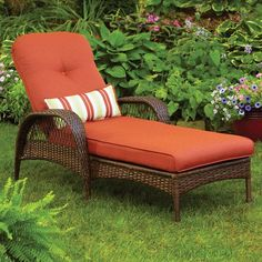 Patio Furniture~ Two of these! Better Homes and Gardens Azalea Ridge Chaise Lounge Outdoor Cushions, Outdoor Sofa, Outdoor Living, Outdoor Decor, Garden Cushions, Outdoor Rooms, Garden Furniture, Outdoor Furniture, Lounge Furniture