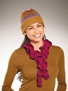 Sparkle Ruffle Scarf #Crochet #MichaelsStores