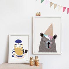 Stort udvalg af plakater og illustrationer til børn fra Michelle Carlslund.