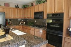 Gallery of granite tile counters. See what a granite counter top will look like. Enhance the value of your home with granite tile. Kitchen Remodel, Granite Tile, Kitchen Inspirations, Kitchen Dining Room, Granite Tile Countertops, Paint Combinations, Kitchen On A Budget, Countertops, Tile Counters