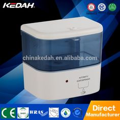 Hotel style battery operated plastic wall mount automatic liquid soap dispenser KD-089D