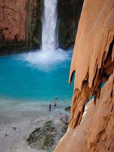 Mooney Falls, Havasu Canyon, Arizona.   ♥♥