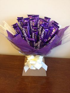 Cadburys chocolate dairy milk sweetie bouquet....Who wants fowers if you can have chocolate.☺