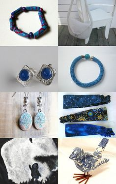 Such beautiful blues. --Pinned with TreasuryPin.com
