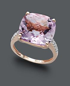 Pink Amethyst Rose Gold