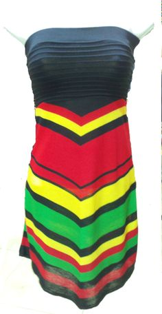 Cheap Rasta Clothing | Rasta Tube Top Dress - Dresses/Skirts/Pants by CULTUREAPPAREL Club Dresses, Casual Dresses, Summer Dresses, Simple Outfits, Cute Outfits, Jamaican Colors, Reggae Style, Tube Top Dress, Playing Dress Up