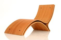 Trio by Dana Sarel from Israel is a chair, made from 3 laminated wood,each laminated separately to complete one shape.