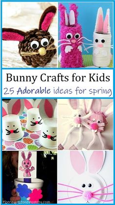 These adorable bunny crafts for kids are perfect for springtime! #kidscrafts #springcrafts #craftsforkids #bunnies Easter Crafts For Kids, Toddler Crafts, Crafts For Teens, Preschool Crafts, Rabbit Crafts, Sheep Crafts, Bunny Crafts, Spring Arts And Crafts, Paper Bunny