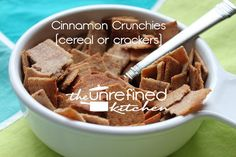 Cinnamon Crunchies (cereal or crackers) Recipe on Yummly. @yummly #recipe