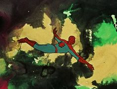 Spider-Man: The Ralph Bakshi Sessions Ralph Bakshi, Saturday Morning Cartoons, Psychedelic, Spiderman, Marvel, Animation, Comics, Painting, Tube