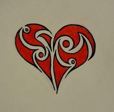 Tribal+Heart | Tribal Heart II Drawing - Malka © 2014 - Jul 26, 2012