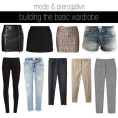 mode & prerogative: building the basic wardrobe - bottoms by modeandprerogative, via Polyvore