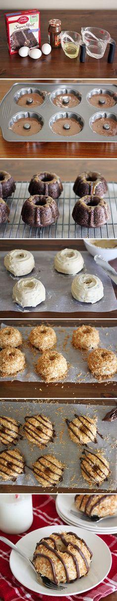 Mini Samoa Bundt Cakes.