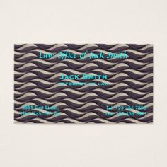 MODERN Waves Business Card  $22.15  by brucestradling  - cyo diy customize personalize unique