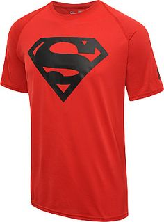 UNDER ARMOUR Men's Alter Ego Superman HeatGear Short-Sleeve T-Shirt