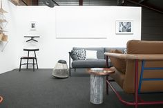 Salute table, X-Ray couch, Ronin chair, Jeeves valet, Apollo light for La Chance - photo by Joséphine Aury - www.lachance.fr Sofa, Couch, Apollo, Table, Chair, Design, House, Sofas