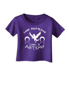 TooLoud Camp Half Blood Cabin 8 Artemis Infant T-Shirt Dark
