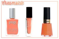 Just like the delicious frozen treat it's named after, this sherbet-y shade looks youthful and yummy on your nails.