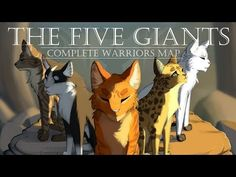 OMG GUYS THE MAP IS FINALLY DONE! THE FIVE GIANTS MAP THAT I HAVE BEEN WAITING FOR ( for like 2 years?) IS FINALLY COMPLETED AND ITS BEAUTIFUL MY DUDES   Please watch it and thank these amazing artists, wat a incredible way to celebrate the Warriors 15th anniversary!!!!   The Five Giants [COMPLETE Warrior Cats M.A.P.] - YouTube