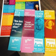 Come by @wehocity hall and get a #free bookmark from @wehoarts in celebration of #nationalpoetrymonth !