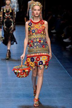 Crochet? Dolce & Gabbana Lente/Zomer 2016 (37)