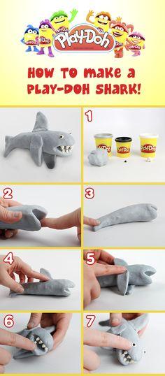 comment faire un requin avec de la Play-Doh! / how to make a Play-Doh shark!