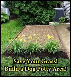 How to Build a Dog Potty Area...at my next house, I will have one of these.  No lawn bombs. #dogsfunnypoop