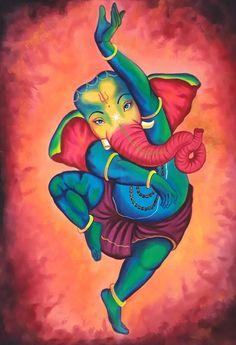 Ganesha Drawing, Lord Ganesha Paintings, Ganesha Art, Ganesha Rangoli, Ganesha Sketch, Poster Color Painting, Mural Painting, Painting Tips, Poster Colour