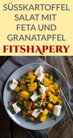 Ein köstlicher Süßkartoffel Salat mit Feta und Granatapfel. Eignet sich perfekt als Mittag- oder Abendessen. Zusätzlich dazu ist der Süßkartoffel Salat natürlich auch sehr gesund.