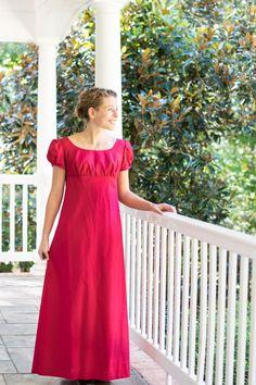 Casual Summer Dresses, Modest Dresses, Summer Gowns, Dress Summer, Jane Austen, Regency Dress, Regency Era, 18th Century Dress, Floral Gown
