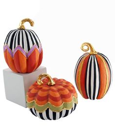Whimsy Patterned Pumpkins