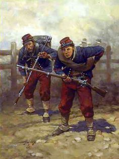 The 14th Brooklyn,by Keith Rocco. Clad in French-inspired Chasseur uniforms, the 84th New York, popularly known as the 14th Brooklyn, went into action on July 1 at Gettysburg, suffering 217 casualties out of a total of 318 officers and men. Other units in the army wore French-style Zouave uniforms, including the 23rd, 72nd, 95th and 114th Pennsylvania, the exact patterns of these uniforms varying according to the whims of the officers who originally chose the uniforms. As the war went on…