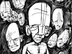 crowd source by Meta Sapient #illustration #dibujo #ilustración
