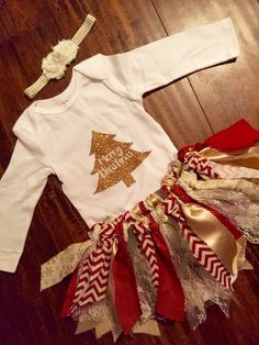 My First Christmas Outfit Shabby Chic Christmas Babies First Baby's First Christmas Outfit, Christmas Tutu, Girls Christmas Outfits, Boys Summer Outfits, Kids Outfits, Holiday Outfits, Christmas Ideas, Casual Outfits, Stylish Kids Fashion