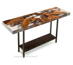 Epoxy Resin Furniture Custom Epoxy Resin Table Tops Made Natural Wood Console Woodland Creek How To Make Epoxy Resin Furniture