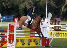 Zara Tindall riding Fernhill Facetime competes in the Open Intermediate section at the Tweseldown Horse Trials