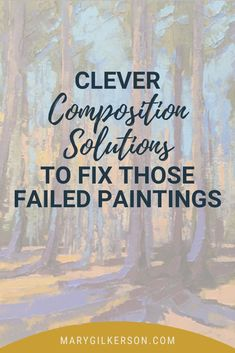 Artists, discover clever composition solutions to fix those failed paintings! Composition is the foundation to a good painting, and sets the tone for value patterns and color palettes. Save this pin and click through to be inspired!