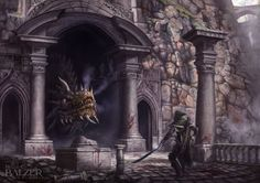 Silmarillion - Turin and Glaurung by helgecbalzer.  In 495, Glaurung was given his first independent command and led an Orc-host to victory in the Battle of Tumhalad against the Noldor of Nargothrond led by Túrin Turambar. He followed up his triumph by sacking Nargothrond, enslaving or slaying its people, making a bed of the treasure of the city, and ruling as a Dragon-king. (Click the pin to read more)