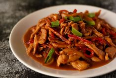 Mancare chinezeasca cu pui si legume Asian Recipes, Ethnic Recipes, Chinese Food, Japchae, Thai Red Curry, Cooking Recipes, Chicken Breasts, Exercises, Foods