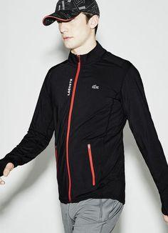 4437e55c555a Sweatshirt zippé Tennis Lacoste SPORT en jersey stretch Accessoire Homme