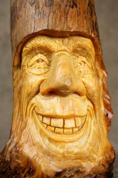 Wood carving wood spirit carved Elf gift for Dad gift by treewiz, $90.00