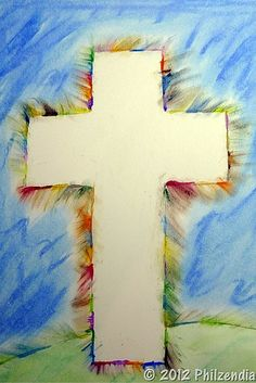 12 Beautiful Easter Cross Crafts for Kids Easter Art, Easter Crafts For Kids, Easter Ideas, Easter Activities, Preschool Crafts, Cross Silhouette, Cross Crafts, Easter Cross, Church Crafts