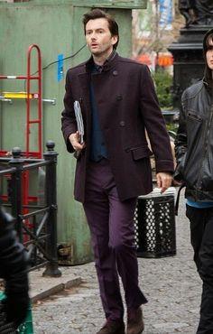 PHOTO: First Photo Of David Tennant On The Set Of AKA Jessica Jones