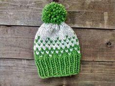 Fair Isle Knit Beanie // Knit Hat // Fair Isle Hat // Fair Isle Knit // Handmade // Winter Hat // Fair Isle Knit Beanie with Pom // Custom (35.00 USD) by EllikinKnits