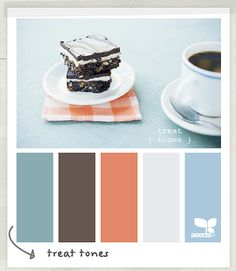 I like this color palette, strangely enough.  The orange isn't too crazy for the blues and grays...it looks fresh instead.