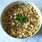 haroset-chopped apples and nuts with a pinch of cinnamon and sweet!  so simple!