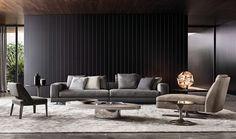 Four + seater sofas: Sofa White by Minotti Sofa Design, Flur Design, Hall Design, Deco Design, Design Trends, Living Tv, Living Area, Living Spaces, Living Room Interior