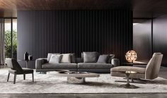 Graue sofa