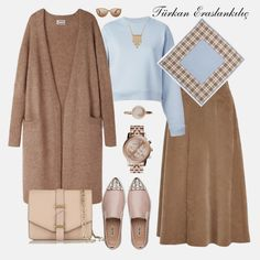 Many more like this can be found at the website! Give it a look for what we pick best for each category!Türkan Eraslankılıç: Special Combinations at Weekend Maxi Outfits, Modest Outfits, Classy Outfits, Chic Outfits, Fashion Outfits, Womens Fashion, Modest Wear, Travel Outfits, Casual Hijab Outfit